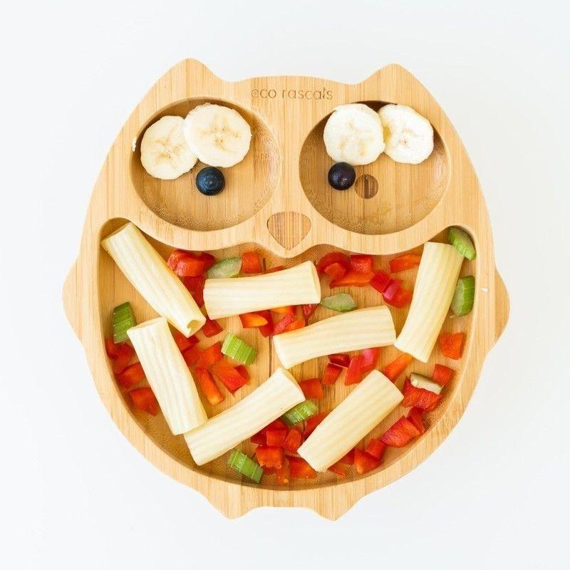 Comida en Plato bambú ECO.RASCALS Búho