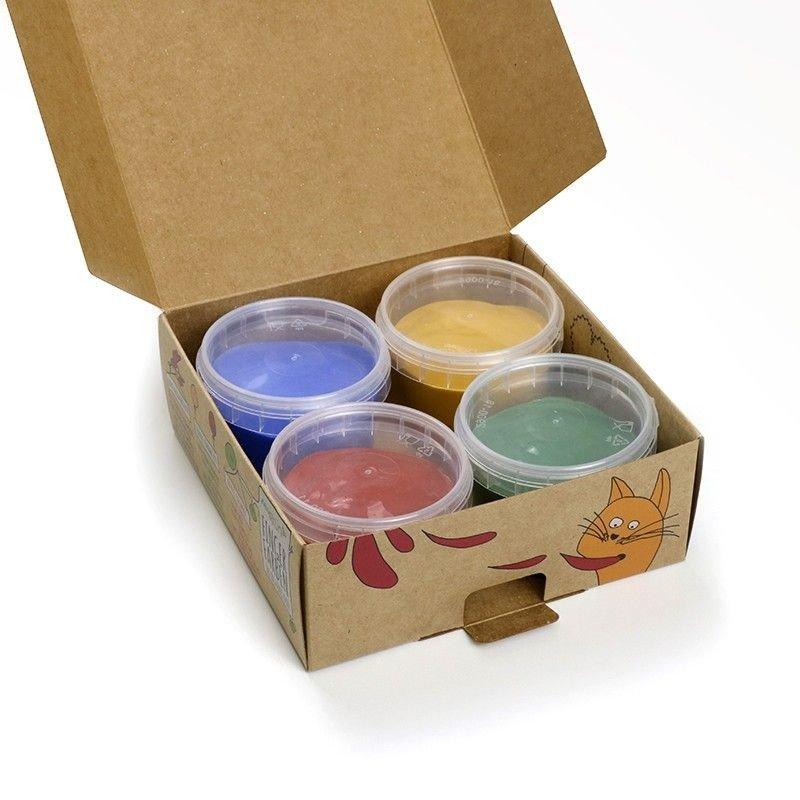 Pack 4 pintura natural para niños